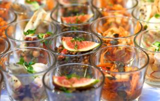 Appetithäppchen im Glas