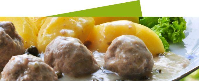Kartoffeln mit Mini Frikadellen